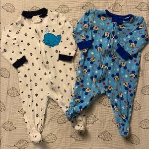 4 for $10 SALE Two footies 6-9m